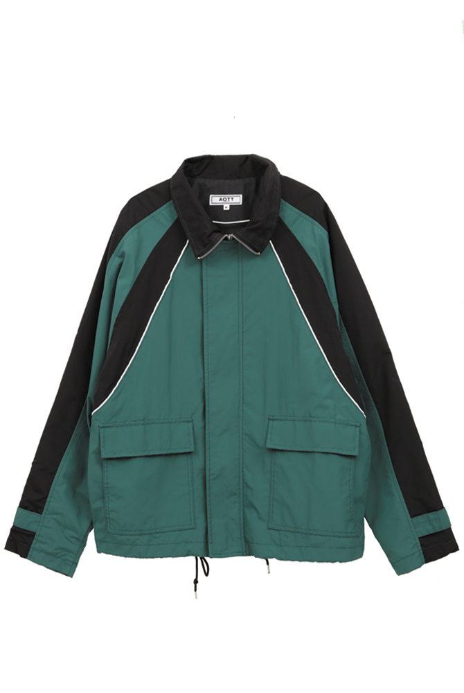 UNISEX COLOR POINT WIND BREAKER GREEN