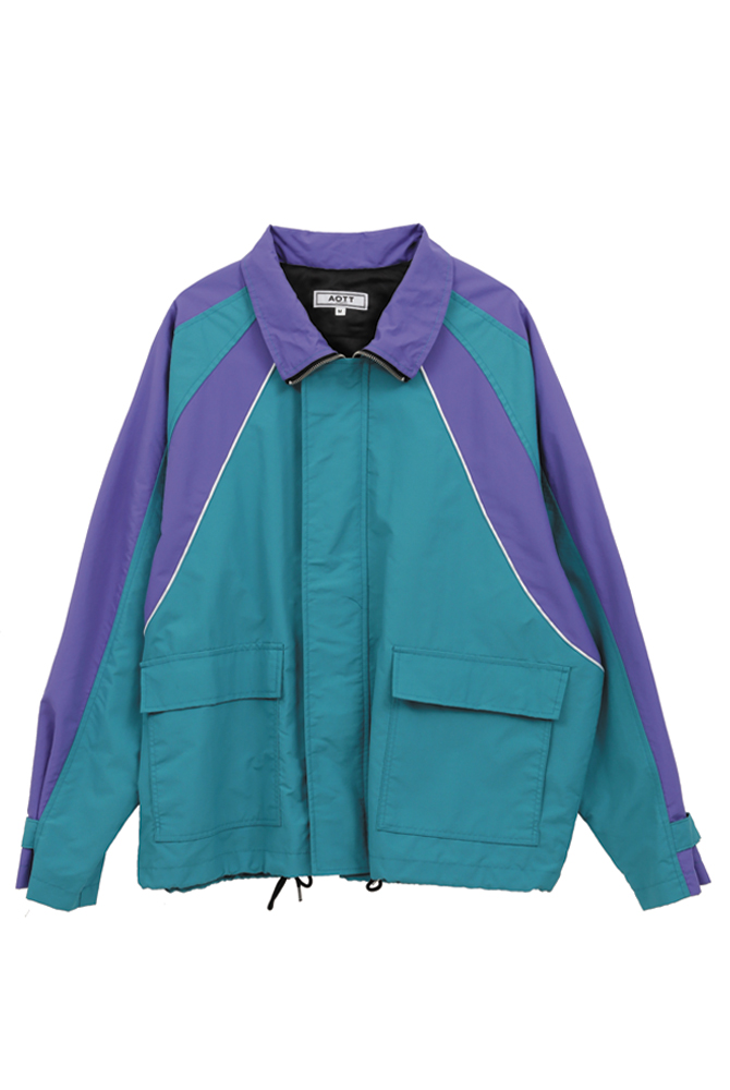 UNISEX COLOR POINT WIND BREAKER PURPLE