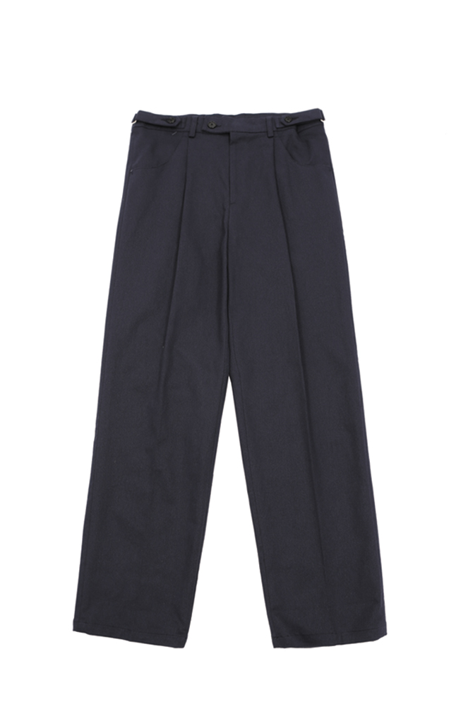 UNISEX BELTED COTTON TROUSER NAVY