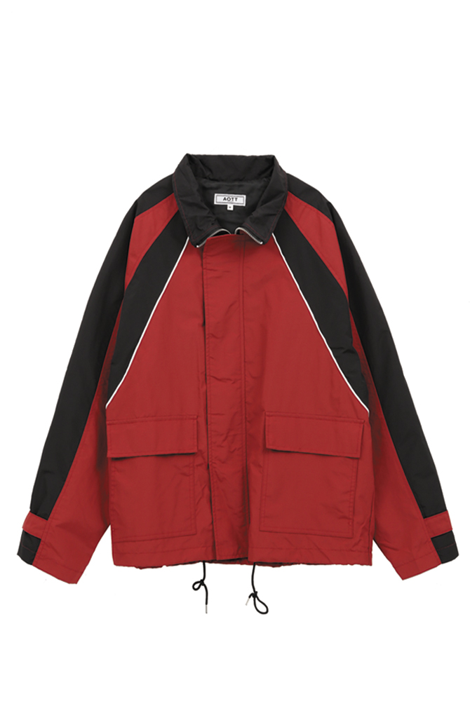 UNISEX COLOR POINT WIND BREAKER RED