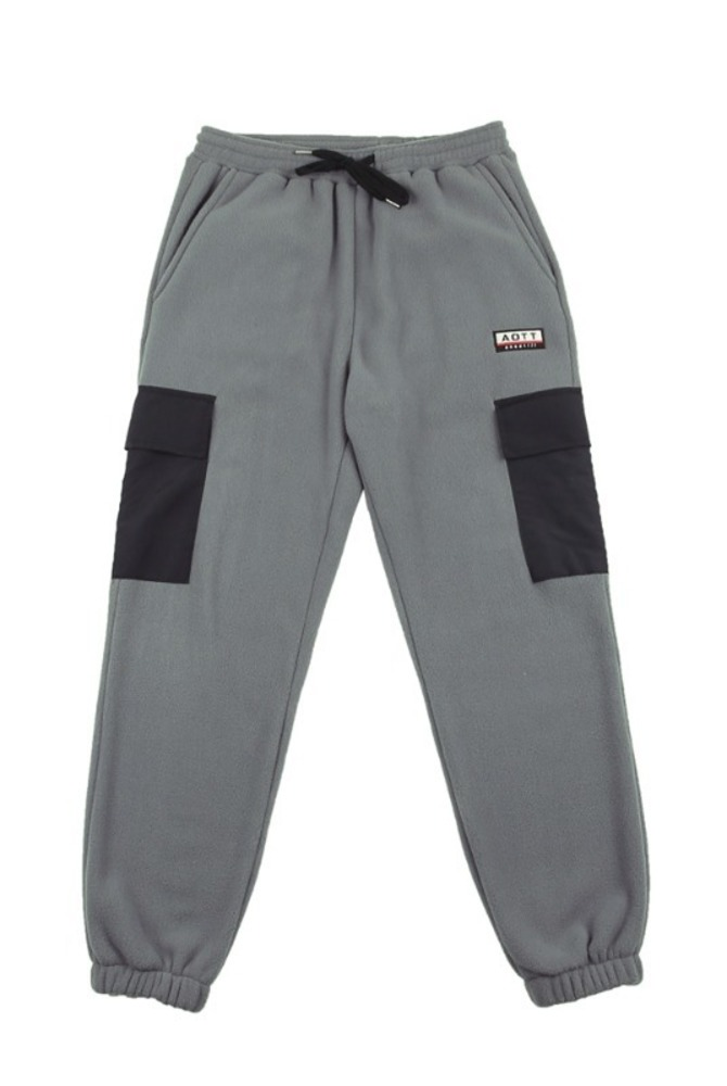 UNISEX FLEECE POCKET PANTS CHARCOAL