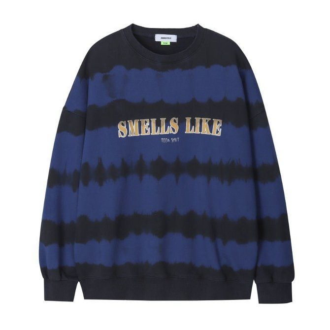 UNISEX TIE DYE SWEAT SHIRTS BLUE