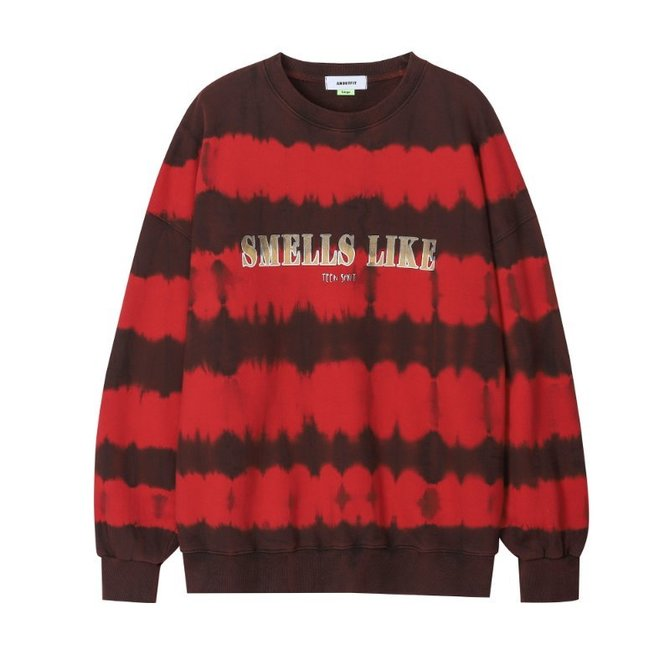 UNISEX TIE DYE SWEAT SHIRTS RED