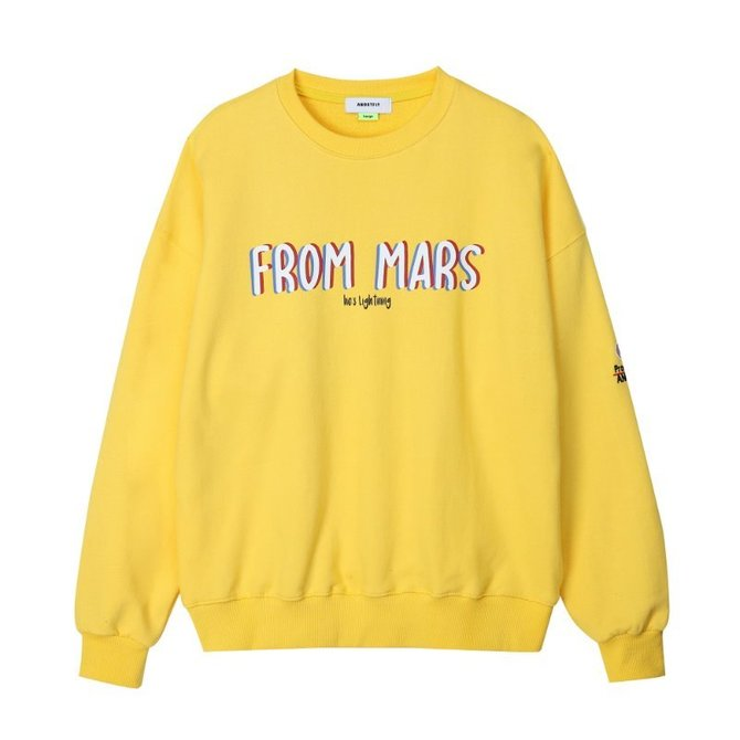 UNISEX FROM MARS SWEAT SHIRTS YELLOW