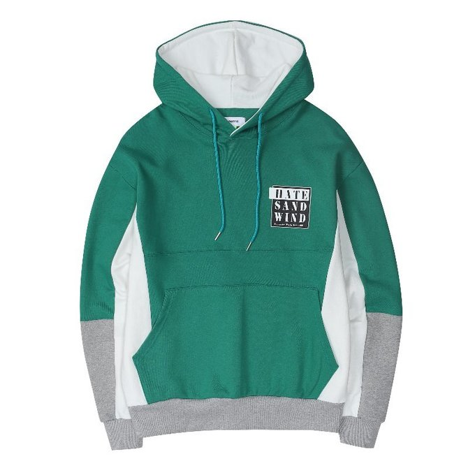 UNISEX HATE INCISION HOOD GREEN