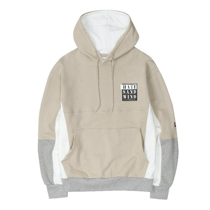 UNISEX HATE INCISION HOOD BEIGE