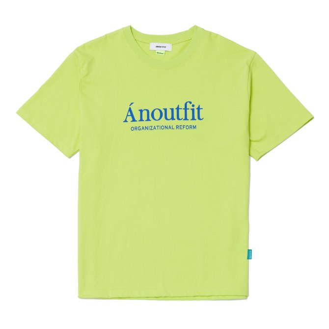 UNISEX SIGNATURE LOGO T-SHIRTS YELLOWGREEN