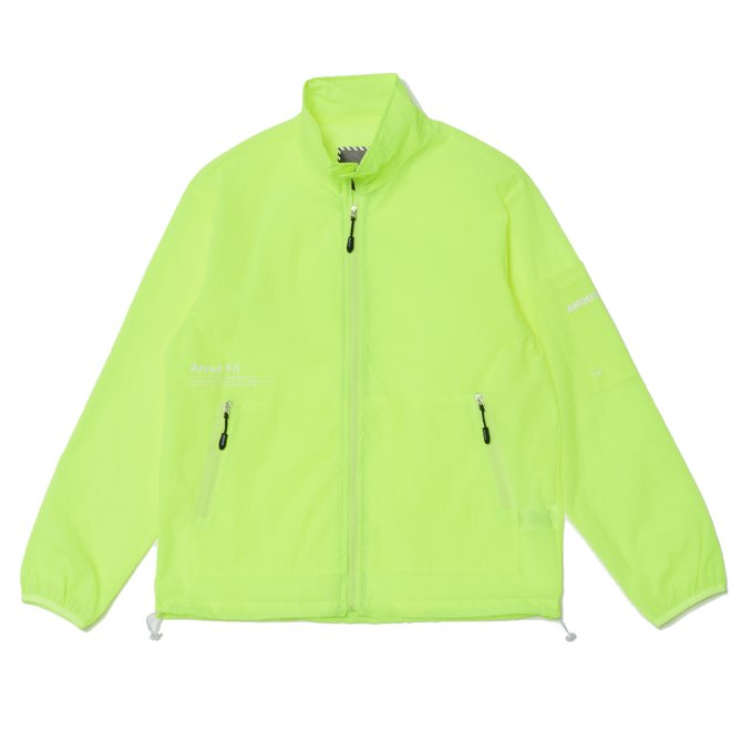 UNISEX MONO WINDBREAKER JACKET YELLOWGREEN