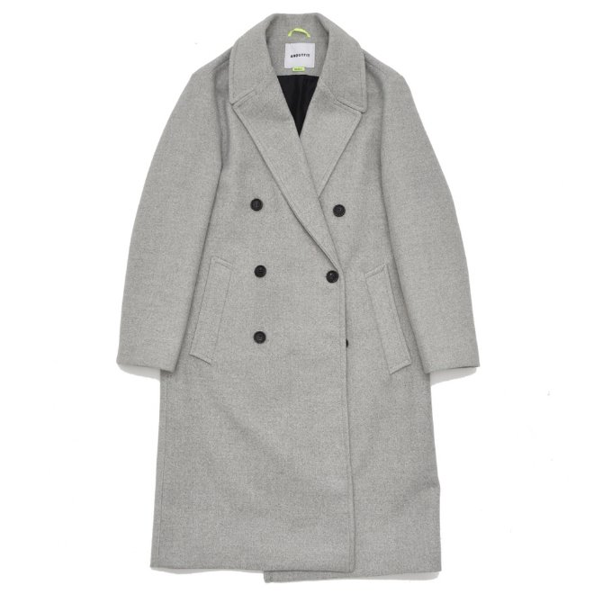 UNISEX SOLID ERBE DOUBLE COAT GREY