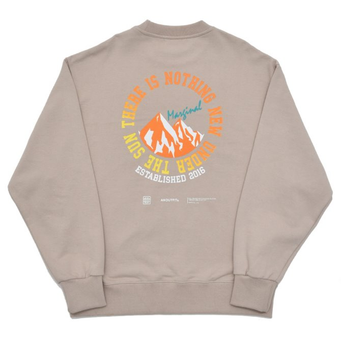 UNISEX MOUNITAIN HEAVY SWEATSHIRT BEIGE
