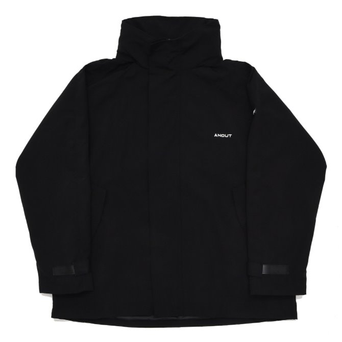 UNISEX OVERFIT BACK WING WINDBREAKER BLACK