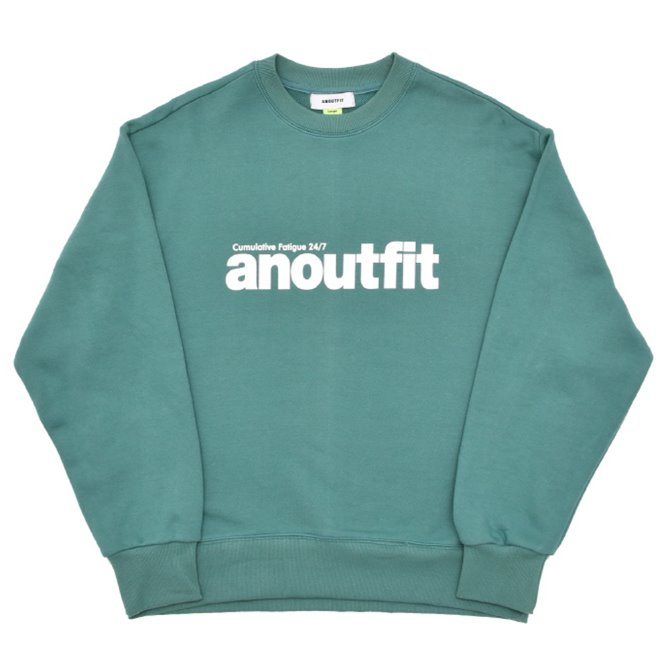 UNISEX SIGNATURE LOGO HEAVY SWEATSHIRT MINT GREEN