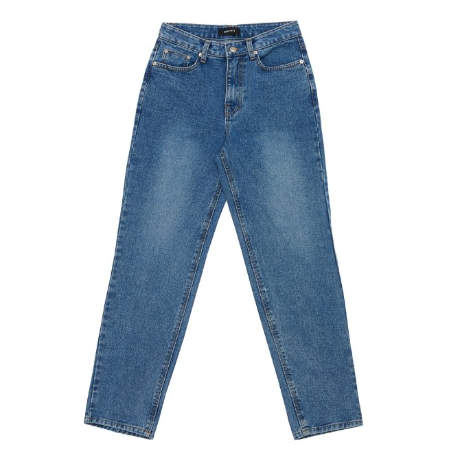 UNISEX WIDE WASHED JEANS BLUE