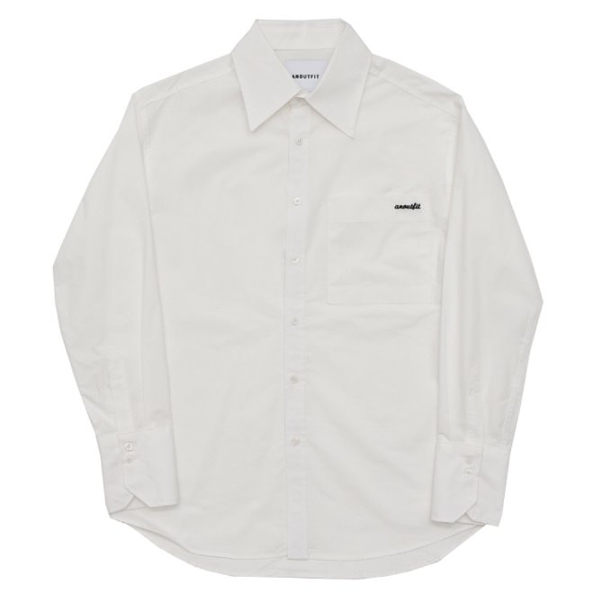 [스크래치상품]UNISEX BIG COLLAR CUFFS SHIRTS WHITE