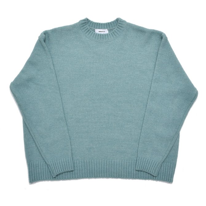 UNISEX OVERFIT CREWNECK KNIT MINT GREEN