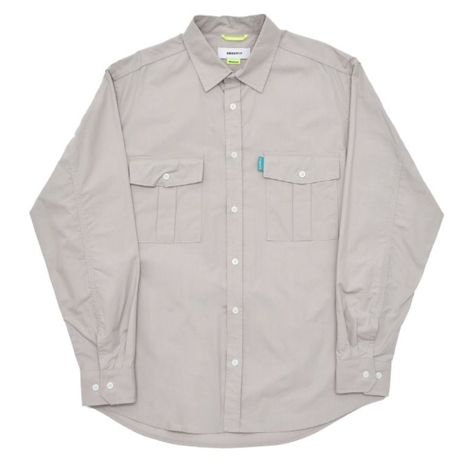 UNISEX PIANO FOLDS POCKET SHIRTS GREY