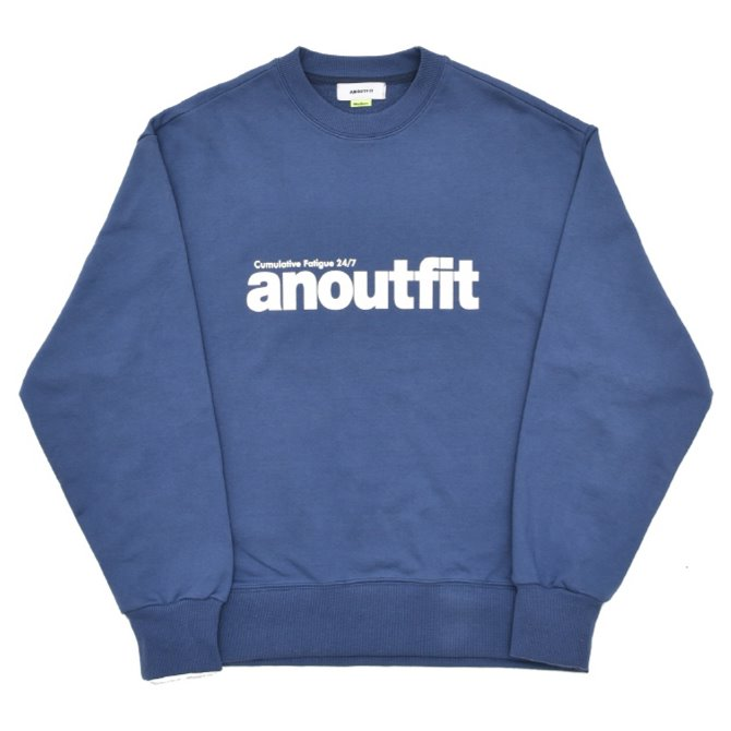 UNISEX SIGNATURE LOGO HEAVY SWEATSHIRT BLUE