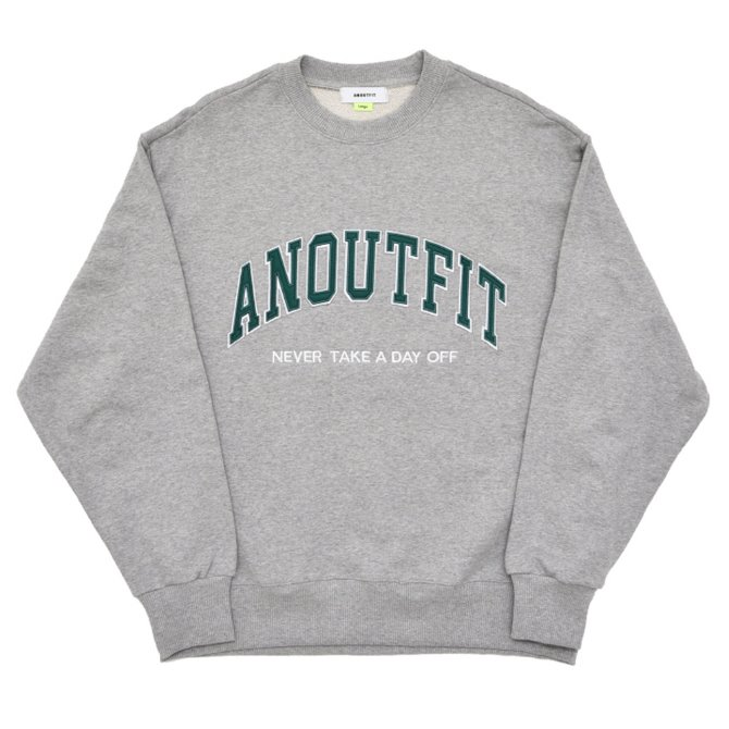 UNISEX PATCH LOGO HEAVY SWEATSHIRT GREY