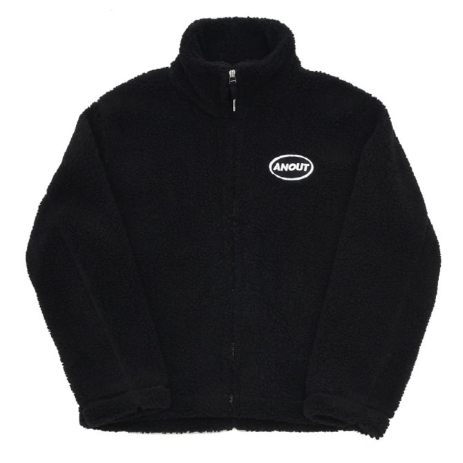 UNISEX DUMBLE LOGO ZIPPUP JACKET BLACK