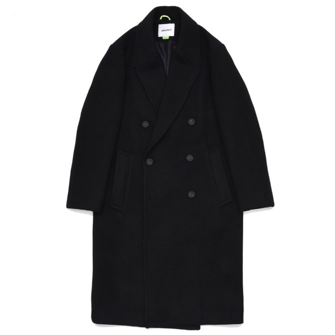 UNISEX SOLID ERBE DOUBLE COAT BLACK