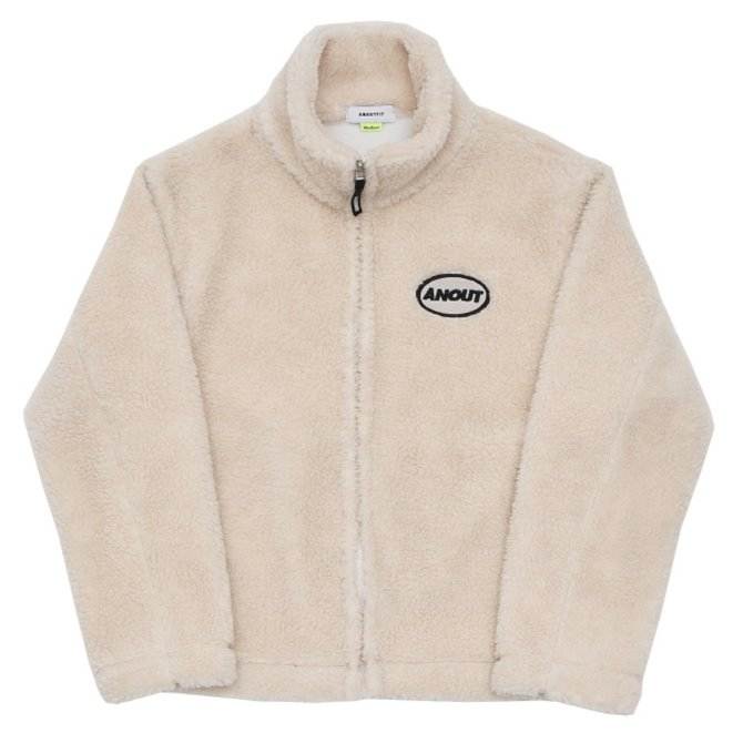 UNISEX DUMBLE LOGO ZIPPUP JACKET IVORY
