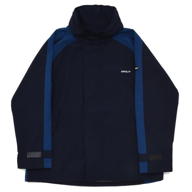 UNISEX OVERFIT BACK WING WINDBREAKER NAVY