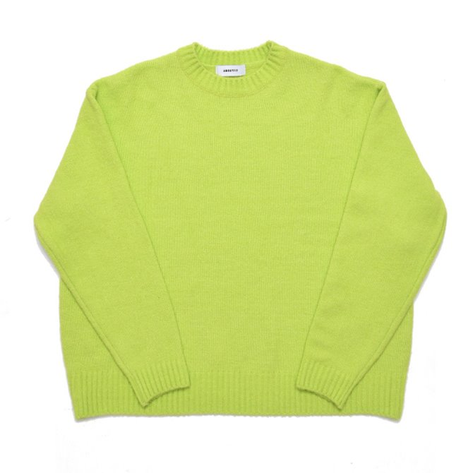 UNISEX OVERFIT CREWNECK KNIT YELLOW GREEN