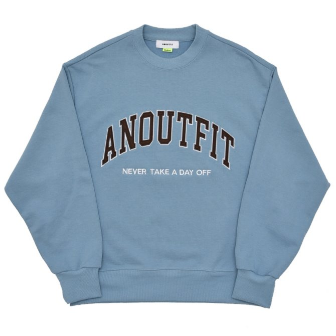 UNISEX PATCH LOGO HEAVY SWEATSHIRT SKY