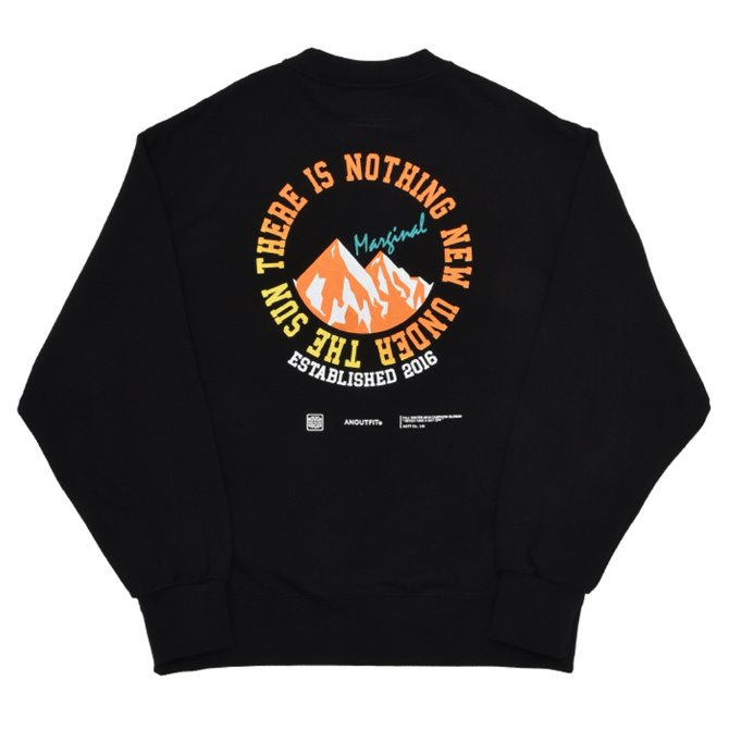 UNISEX MOUNITAIN HEAVY SWEATSHIRT BLACK