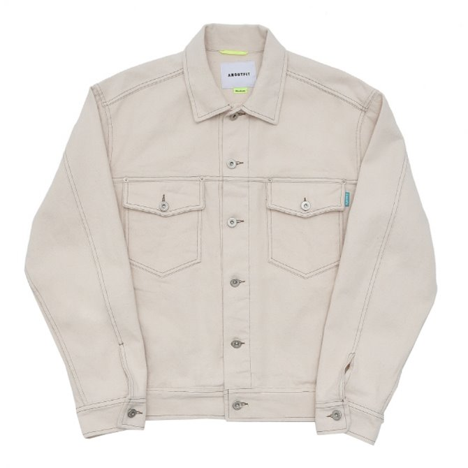 UNISEX STITCH TRUCKER JACKET CREAM