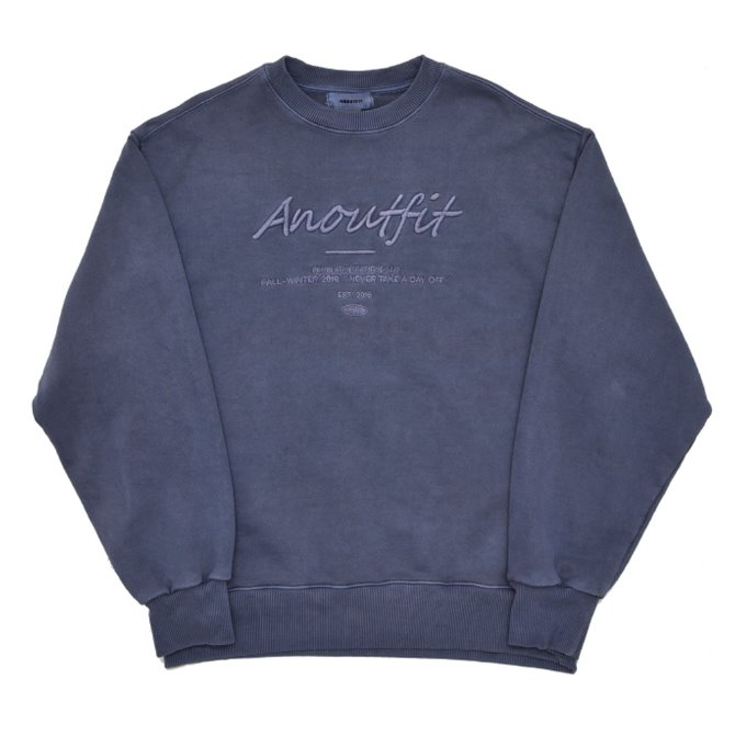 UNISEX PIGMENT LOGO HEAVY SWEATSHIRT LIGHT BLUE