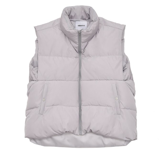 UNISEX 3M OVERFIT DUCK DOWN PADDING VEST GREY
