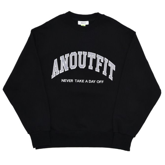 UNISEX PATCH LOGO HEAVY SWEATSHIRT BLACK