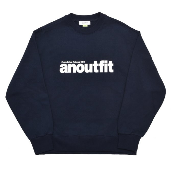 UNISEX SIGNATURE LOGO HEAVY SWEATSHIRT NAVY
