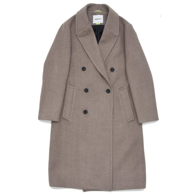 UNISEX SOLID ERBE DOUBLE COAT BROWN