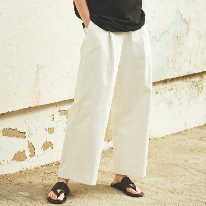 UNISEX WIDE BALLOON PANTS WHITE