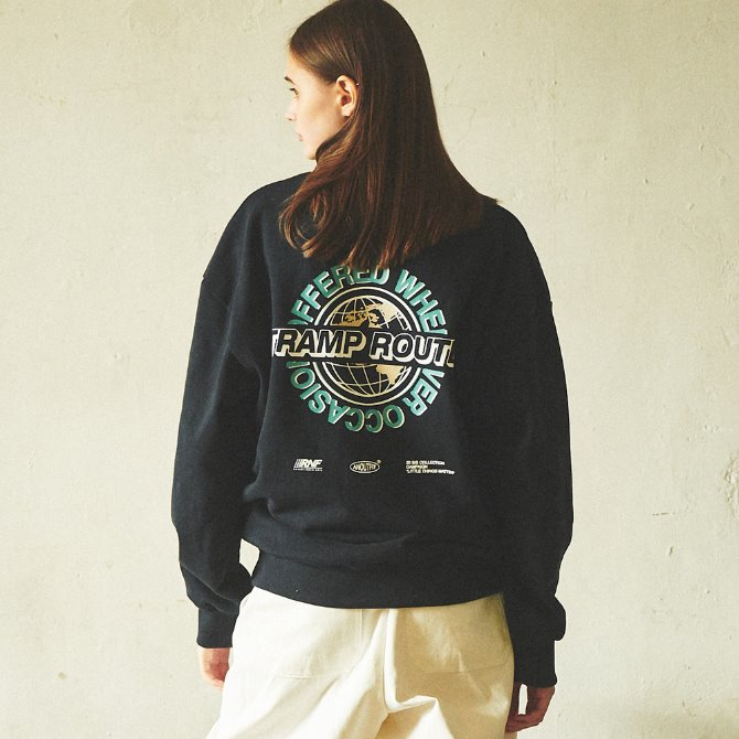 UNISEX WORLD GLOBE HEAVY SWEATSHIRT NAVY