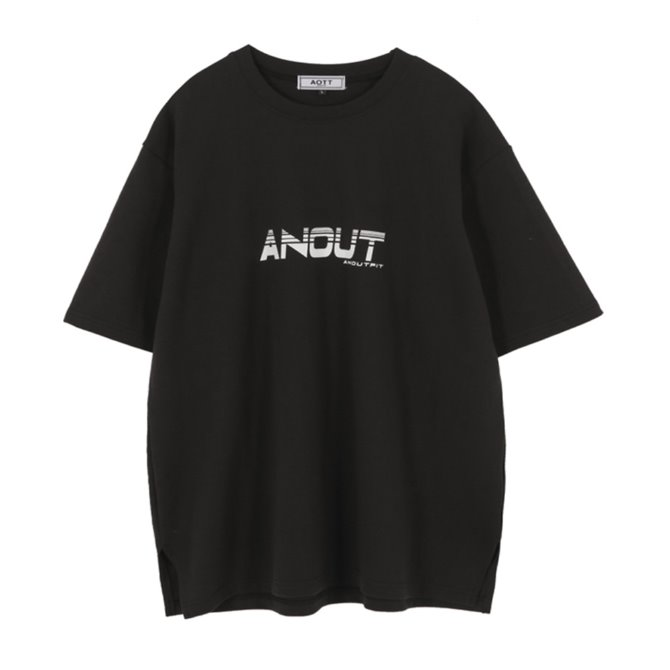 UNISEX ANOUT SIGNATURE T-SHIRTS BLACK