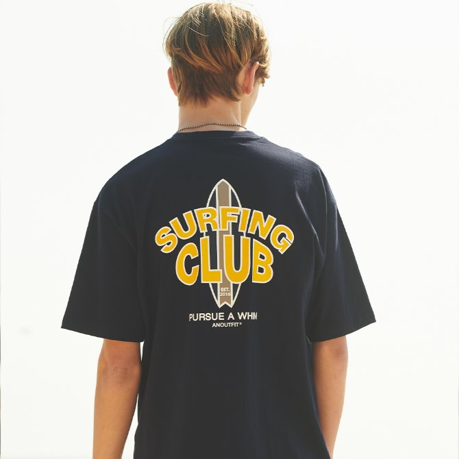 UNISEX SURFING CLUB TEE NAVY