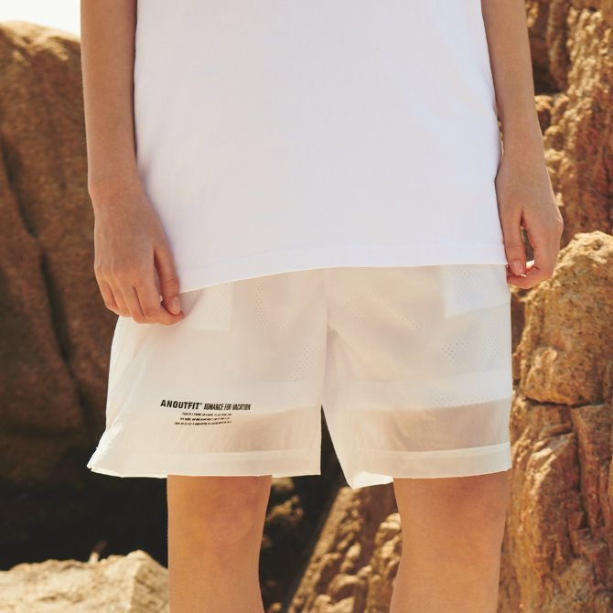 UNISEX MONO STRING SHORT PANTS WHITE