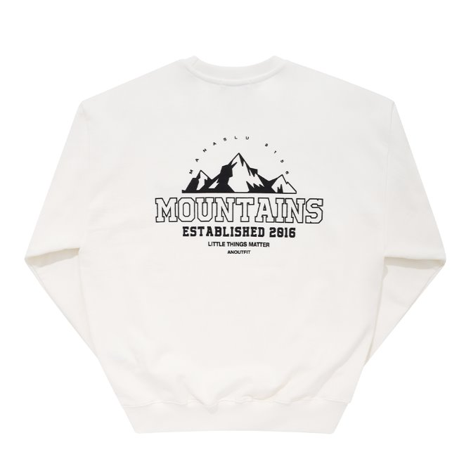 UNISEX MONO MOUNTAINS HEAVY SWEATSHIRT IVORY