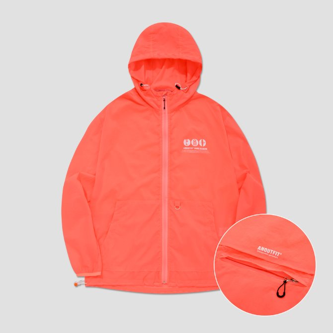 UNISEX UTILITY MONO WINDBREAKER NEON ORANGE