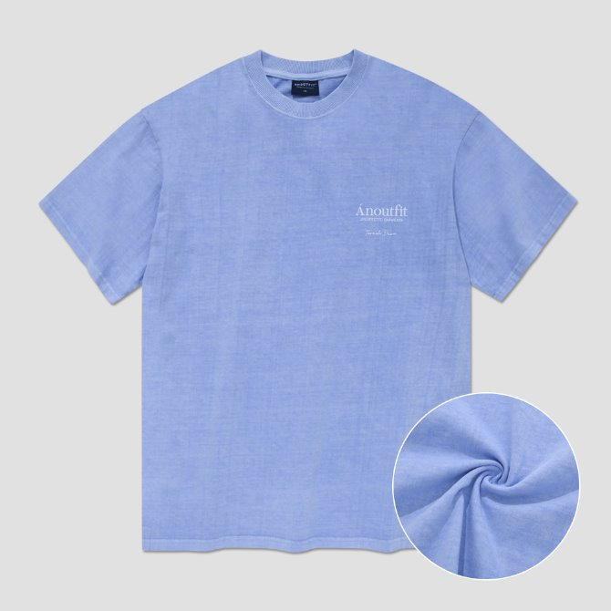 UNISEX OVERFIT PIGMENT TEE LIGHT BLUE