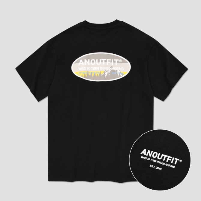 UNISEX NATURE LOGO TEE BLACK