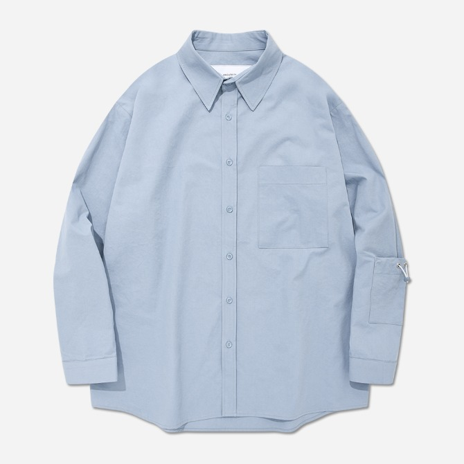 UNISEX OVERFIT BACK WING SHIRTS SKY BLUE