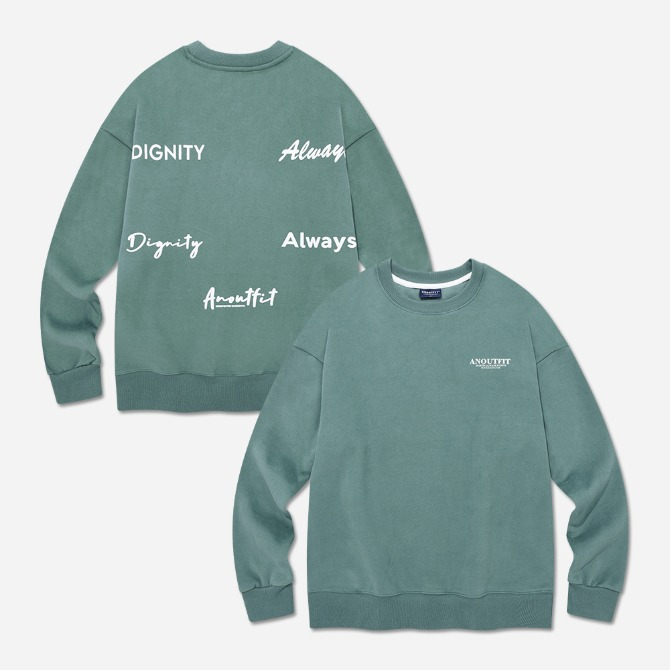 UNISEX OVERFIT DIGNITY SWEATSHIRT DUSTY GREEN