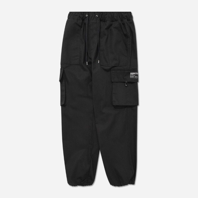 UNISEX STRAIGHT CARGO JOGGER PANTS BLACK